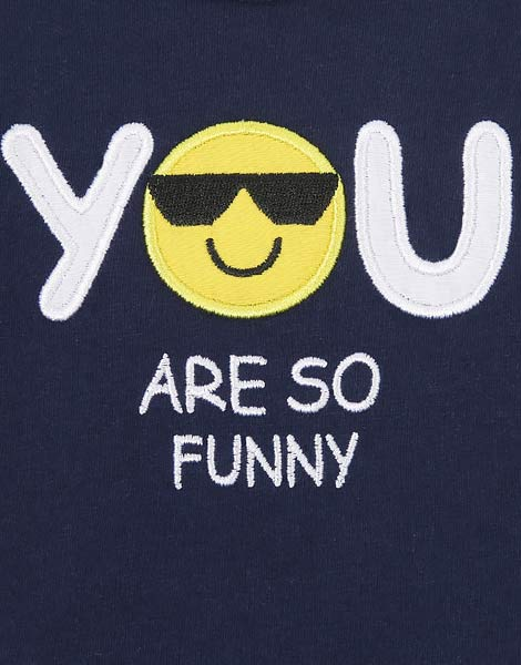 Синее боди с надписью YOU ARE SO FUNNY BBC000162-1-03_1200Wx1200H 1200Wx1200H
